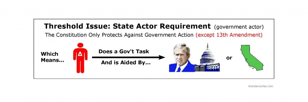 Constitutional Law Threshold Issue State Actor Requirement